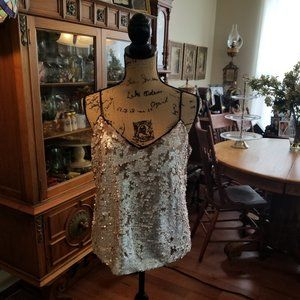 1 State Silver and Bronze tank top size L
